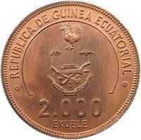 EQUATORIAL GUINEA 2000 EKUELE 1978 COPPER ESSAI 46MM 41.6G #t81 025