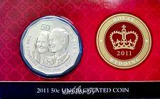 ** 2011 Australian Royal Wedding 50 cent  carded UNC **