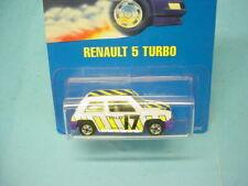 "RARE HOT WHEELS 1990 INTERNATIONAL CARD #3205 ""RENAULT 5 TURBO"" WHITE #17 MOC"