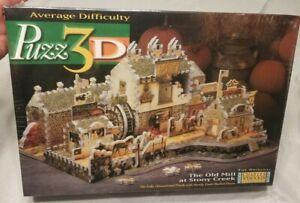 Puzz 3D Charles Wysocki's The Old Mill at Stony Creek Puzzle 745 Pcs 1998 Sealed