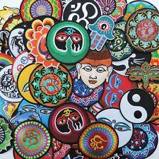 Random Mixed Lot Aum Om Ohm Hindu Buddha Yoga Yin Yang Tao Iron-On Patches #005