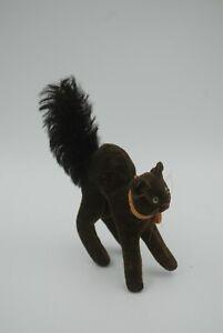 Vintage Steiff Black Halloween Cat, Arched Back, Tiny