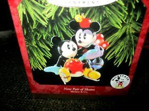 Hallmark Keepsake 1997 Ornament New Pair of Skates Mickey Minnie Mickey & Co