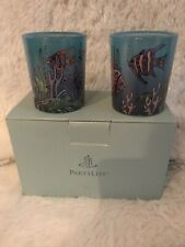 Partylite Tealight Candle Holders Sea Life Blue