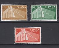 SPAIN (1956) - MNH - Sc# 853/55  - Mi# 1093/95 - EDIFIL 1196/98