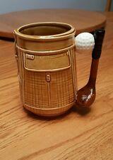 Vintage Lefton Japan golf cart coffee mug beer stein club handle hand-painted