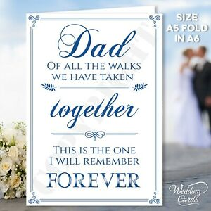Will you walk me down the aisle Personalised Poem Card Someone Special Step Dad