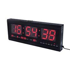 Digital Large Big Jumbo Led Display Wall Clock Timer Alarm Calendar Temperature