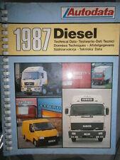 livre données techniques véhicules diesel 1977 à 1987 Autodata