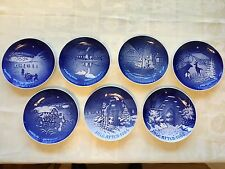 B&G Bing & Grondahl Blue Christmas Collection of 7 Plates in years 1972~86 Xmas