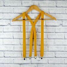 Handmade Harris Tweed Braces - Mustard Yellow tweed