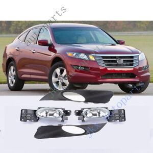 Bumper Bezel Fog Light Lamp Kit For Honda Accord Crosstour 10-11 Crosstour 2012