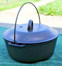 Vintage LODGE # 8 Cast Iron Dutch Oven Pot Fabulous Condition - Free Shipping!