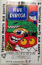 HERVÉ DI ROSA AFFICHE 1989 Rue Dante dossier de presse