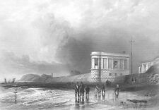 Merseyside SOUTHPORT BEACH SHORE SANDS SEAWALL ~ 1840 Marine Art Print Engraving