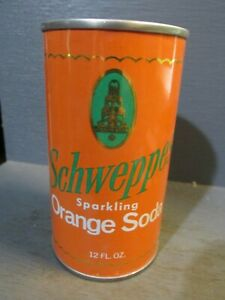 SCHWEPPS SPARKLING ORANGE WIDE SEAM STEEL SODA CAN     -[READ DESCRIPTION]-