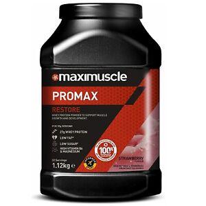 Maximuscle Promax Protein Powder 1.12kg Whey Protein Gym Workout Bodybuilding