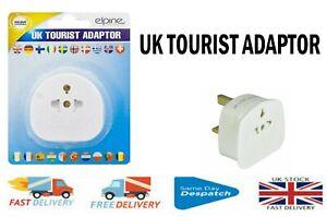 Tourist Adaptor for  INT, EU, US to UK 3 Pin Tourist Travel Power Plug  Adaptor