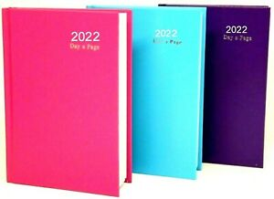 2022 diary A4/A5/A6 Page a Day/Week to View Diary Hardback Casebound Black cover