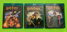 Harry Potter Blu-ray Lot Of 3 Chamber Sorcerers Stone Prisoner Of Azkaban