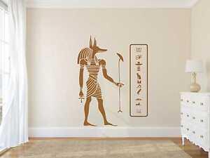 Wandtattoo Aufkleber Anubis + Hieroglyphen 4 Gr. inkl. Rakel Wand Ägypten W172