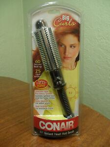 Conair Instant Heat Styling Brush 1.25 In Turbo Heat Big Curls Dual Voltage NIB
