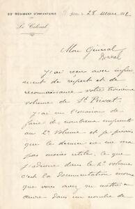 Philippe PETAIN. Lettre autographe signée au Général Bonnal.