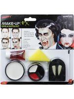 Vampire Vampiress Makeup FX Face Paint Palette Plus Fangs for Halloween 37808