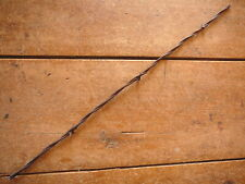 BAKERS FLAT 2-PT  BARBS on ONE of TWO LINES - WIDE SPACED - ANTIQUE BARBED WIRE