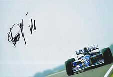 Damon Hill Hand Signed 12x8 Photo Rothmans Williams Renault F1.