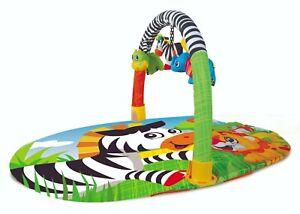 Baby Activity Playmat Lay & Play Zebra Floor Play Mat With Fun Sensory Toys