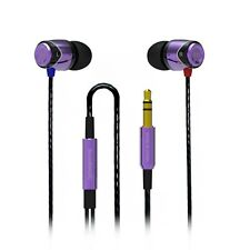 SoundMAGIC E10 In Ear Isolating Earphones - Black- & Purple - Refurbished
