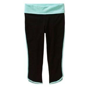 Danskin Now Girls' Binded Yoga Capri Pant 4-5 black