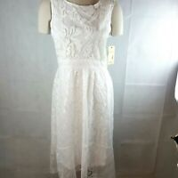 Reba Country Festival White Sleeveless Lace Applique Lined Size 14