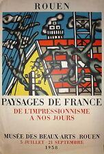 Leger Fernand Affiche Lithographie abstraction art abstrait Musée Rouen Mourlot