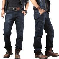 Mens Jeans Denim Pants Casual Zipper Pockets Combat Work Pants Tactical Trousers