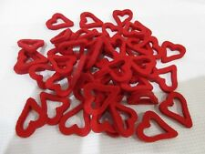 Lot of (50) Valentines Day Hearts Felt Craft Scatter Table Bowl filler Decor