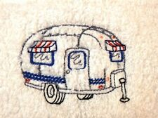 Set of Four Airstream Embroidered Hand Towels 100% cotton terrycloth hand towels