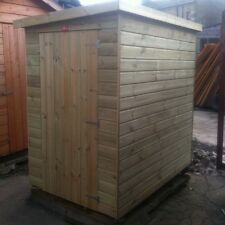 6X6 GARDEN SHED PENT ROOF PRESSURE TREATED STORE TANALISED TONGUE & GROOVE HUT