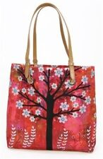 Sascalia Pink Sunset City Flower Tree Tote Handbag