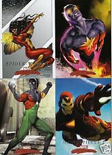 2008 MARVEL MASTERPIECES COMIC TRADING CARDS MINI MASTER SET XMEN