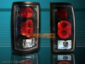 86-93 MAZDA B2000 B2200 B2600 TAIL LIGHTS BLACK LAMPS 92 91 90 89