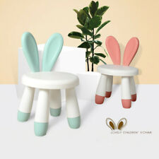 Cartoon Rabbit Antlers Children Chair Lovely Plastic Baby Stool Dining Chair