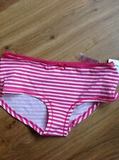 LOW RISE SHORTS SIZE 6-8 M&S PINK MIX STRIPED WITH TRIM 95% COTTON BRAND NEW