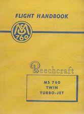 Beechcraft MS 760 Twin Turbo-Jet 1958 (Morane-Saulnier MS760 Paris Jet) REPRINT