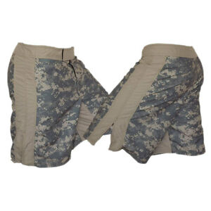 ACU with Tan Stripe Camouflage MMA Fight Shorts MACP