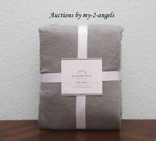 NEW Pottery Barn $169 T-Shirt JERSEY KNIT King Duvet Cover GREY GRAY *So Soft