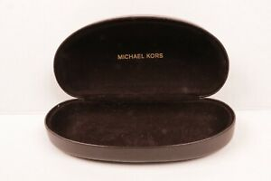 Michael Kors Sunglass Eyeglass Dark Brown Case Hard clam shell