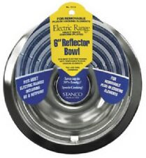 """Stanco 2 Pack, 6"""" Chrome Reflector Bowl, For Electric Ranges"""