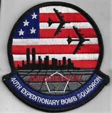 USAF 40th EXPEDITIONARY BOMB SQ  PATCH -   'DESTRUCTION ON CALL'          COLOR